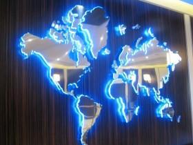 Карта для интерьера г. Санкт-Петербург