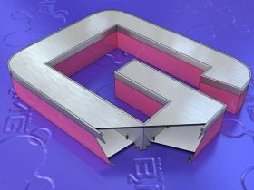 Несветовая объемная буква из композита