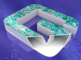 Несветовая объемная буква с материалом 3D