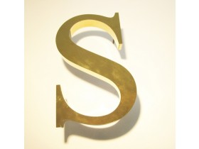 """Буквы из нержавеющей стали """"под золото"""""""