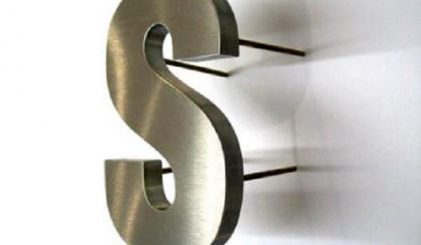 Буквы объемные из нержавеющей стали
