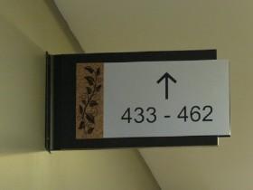 Навигационный указатель в торговый комплекс