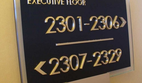 Табличка в торговый комплекс