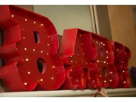 Буквы интерьерные с лампочками