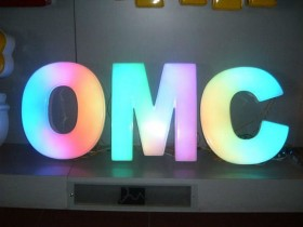 Буквы объемные световые RGB