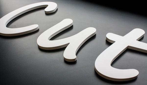 Буквы плоские несветовые